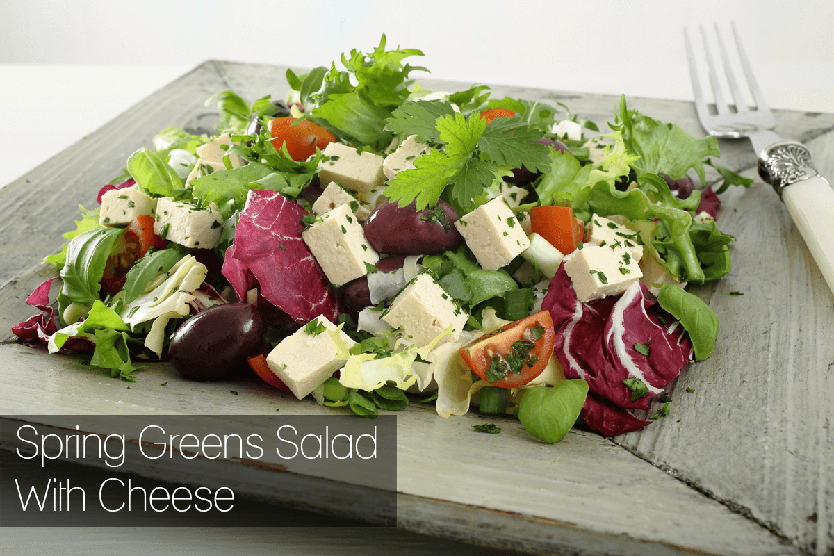 Spring Greens Salad With Cheese